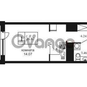 Продается квартира 1-ком 26.87 м² Дунайский проспект 7, метро Звёздная