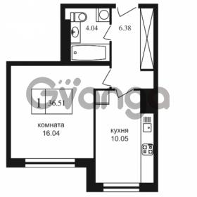 Продается квартира 1-ком 36.51 м² Дунайский проспект 7, метро Звёздная