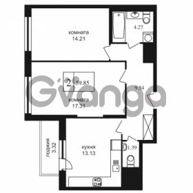 Продается квартира 2-ком 59.85 м² Дунайский проспект 7, метро Звёздная