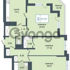 Продается квартира 3-ком 97 м² Дунайский проспект 7, метро Звёздная