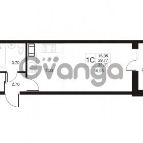Продается квартира 1-ком 31.11 м² улица Катерников 1, метро Проспект Ветеранов