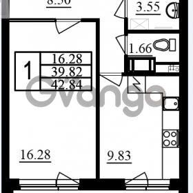 Продается квартира 1-ком 42.84 м² проспект Маршала Блюхера 11, метро Лесная