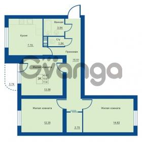 Продается квартира 3-ком 77 м² Советская улица 29, метро Ладожская