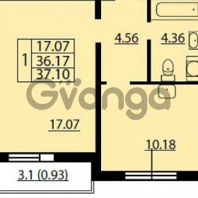 Продается квартира 1-ком 37 м² Ленинский проспект 69, метро Проспект Ветеранов