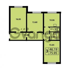 Продается квартира 3-ком 75 м² Ленинский проспект 69, метро Проспект Ветеранов