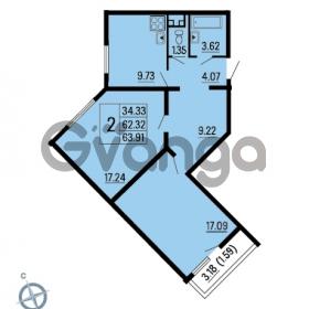 Продается квартира 2-ком 63 м² Ленинский проспект 69, метро Проспект Ветеранов