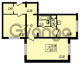 Продается квартира 2-ком 65 м² Ленинский проспект 69, метро Проспект Ветеранов