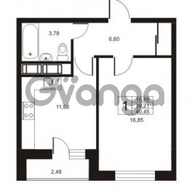 Продается квартира 1-ком 40.45 м² улица Катерников 1, метро Проспект Ветеранов