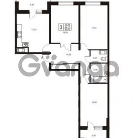 Продается квартира 3-ком 93.03 м² улица Катерников 1, метро Проспект Ветеранов