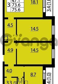 Продается квартира 3-ком 75 м² Муринская дорога 7, метро Гражданский проспект