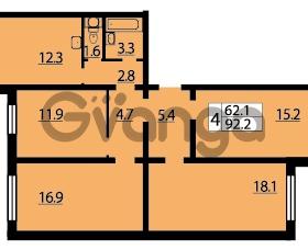 Продается квартира 4-ком 92 м² Муринская дорога 7, метро Гражданский проспект