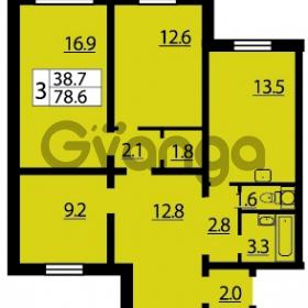 Продается квартира 3-ком 78 м² Муринская дорога 7, метро Гражданский проспект