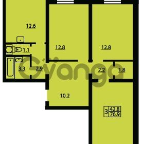 Продается квартира 3-ком 76 м² Муринская дорога 7, метро Гражданский проспект