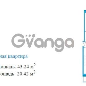 Продается квартира 1-ком 43.24 м² Переведенская улица 1, метро Купчино