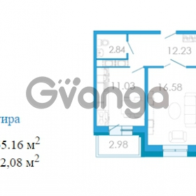 Продается квартира 2-ком 65.16 м² Переведенская улица 1, метро Купчино