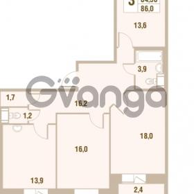 Продается квартира 3-ком 84.5 м² Областная улица 1, метро Улица Дыбенко