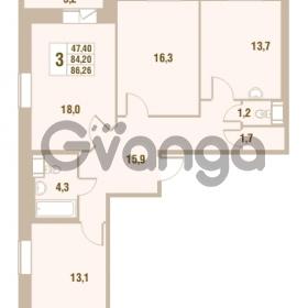 Продается квартира 3-ком 84.2 м² Областная улица 1, метро Улица Дыбенко
