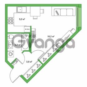 Продается квартира 1-ком 28.9 м² улица Оптиков 34, метро Старая деревня