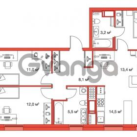 Продается квартира 3-ком 78.2 м² улица Оптиков 34, метро Старая деревня