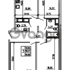 Продается квартира 3-ком 92.05 м² Графская улица 1, метро Девяткино