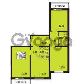 Продается квартира 3-ком 80.2 м² Южное шоссе 110, метро Международная