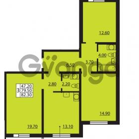 Продается квартира 3-ком 79.5 м² Южное шоссе 110, метро Международная