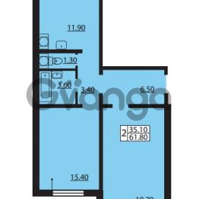 Продается квартира 2-ком 61.8 м² Южное шоссе 110, метро Международная