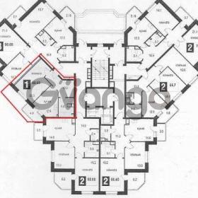 Продается квартира 1-ком 51 м² Пригородная ул.
