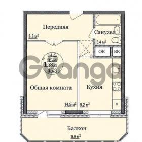 Продается квартира 1-ком 43 м² Солнечный б-р