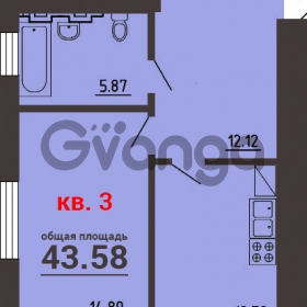 Продается квартира 1-ком 44 м² Калининградский пр-т