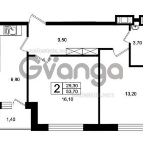 Продается квартира 2-ком 53 м² Цветочная, 9