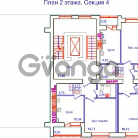Продается квартира 2-ком 58 м² Аксакова
