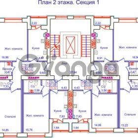 Продается квартира 2-ком 56 м² Аксакова