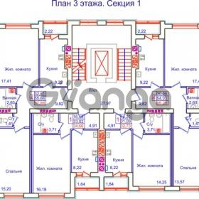 Продается квартира 1-ком 34 м² Аксакова