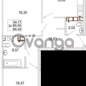 Продается квартира 2-ком 69 м² Карамзина