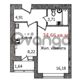 Продается квартира 1-ком 35 м² Кутаисская