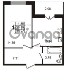 Продается квартира 1-ком 38 м² Пригородная