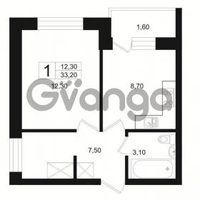 Продается квартира 1-ком 33 м² Цветочная