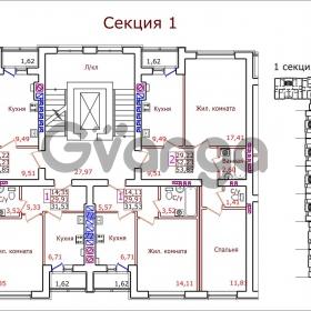 Продается квартира 1-ком 31 м² Маршала Новикова