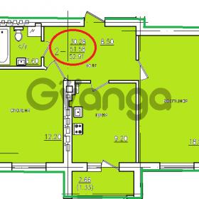 Продается квартира 2-ком 52 м² пер.Пионерский