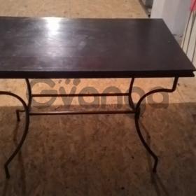 Продам бу деревянные столы, ковка.