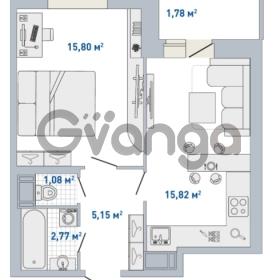 Продается квартира 1-ком 42.4 м² Кушелевская дорога 5к 5, метро Лесная
