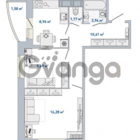 Продается квартира 2-ком 51.23 м² Кушелевская дорога 5к 5, метро Лесная