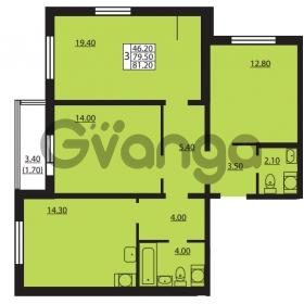 Продается квартира 3-ком 79.5 м² Южное шоссе 114, метро Международная