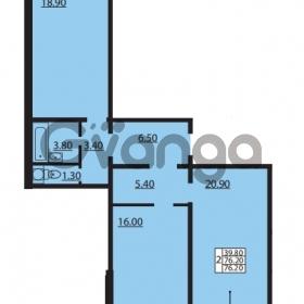 Продается квартира 2-ком 76.2 м² Южное шоссе 110, метро Международная