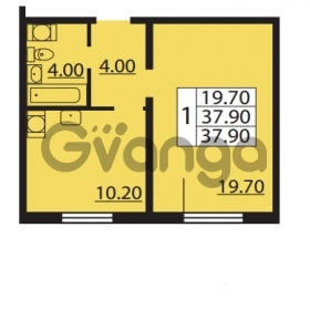 Продается квартира 1-ком 37.9 м² Южное шоссе 110, метро Международная