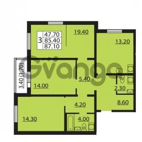 Продается квартира 3-ком 85.4 м² Южное шоссе 110, метро Международная