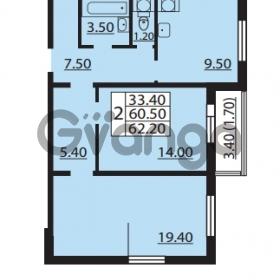 Продается квартира 2-ком 60.5 м² Южное шоссе 110, метро Международная