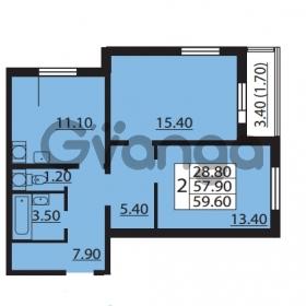 Продается квартира 2-ком 57.9 м² Южное шоссе 110, метро Международная