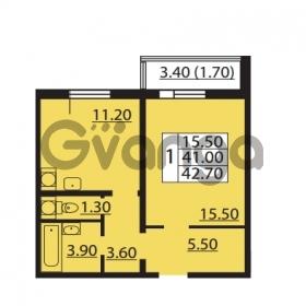 Продается квартира 1-ком 41 м² Южное шоссе 110, метро Международная